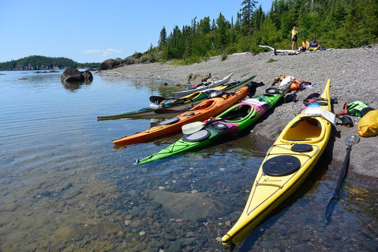 Kayaks on Beach, Simpson Island