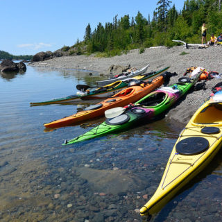 Kayaks on Beach, Simpson Island