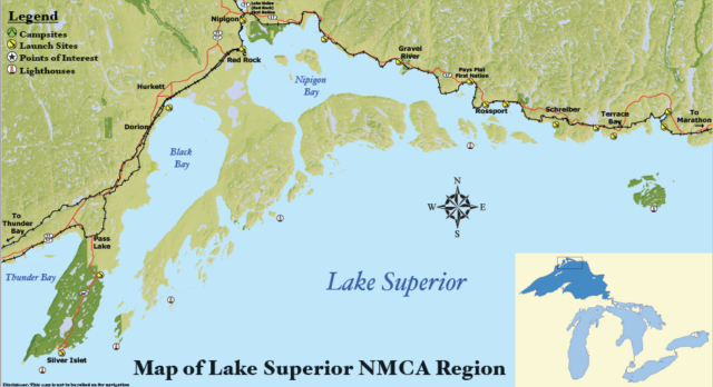Lake Superior NMCA Map